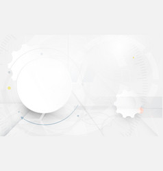 abstract futuristic circuit and high technology vector image