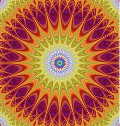 Abstract mandala fractal design background vector image