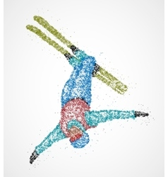 Abstract skier freestyle vector