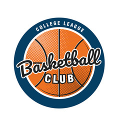 Basketball club logo template emblem the vector
