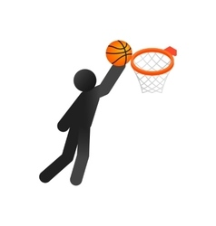 Basketball isometric 3d icon vector