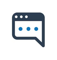 Blog post icon vector