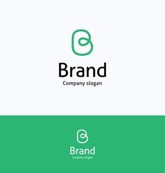 Brand B loop logo vector image