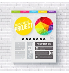 Business Report presentation template vector image
