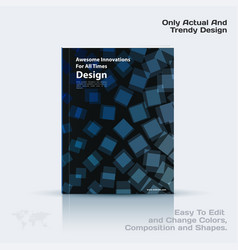 Business template brochure design vector