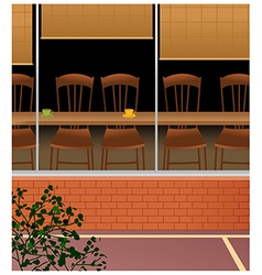 Cafe Interior Background vector image
