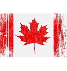 canadian flag on wood vector image
