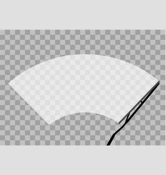 car wiper windshield winter clean front window vector image