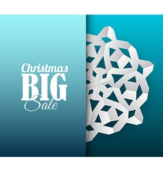 card with white paper christmas snowflake vector image