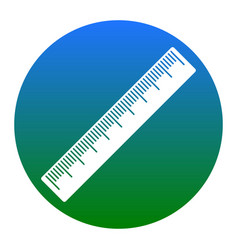 centimeter ruler sign white icon in vector image