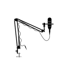 condenser microphone with table stand vector image