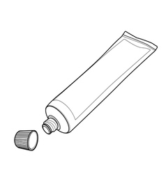 cream tube out line vector image