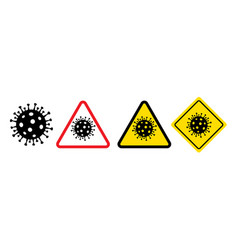 danger symbols coronavirus sign vector image