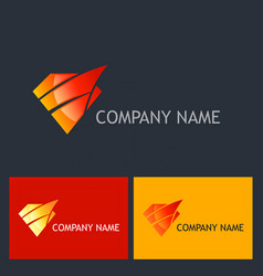 Diamond shine abstract company logo vector
