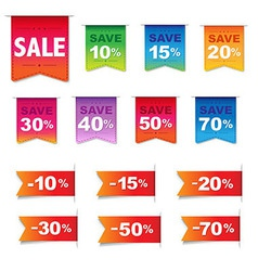 Discount Labels And Ribbons Set vector image