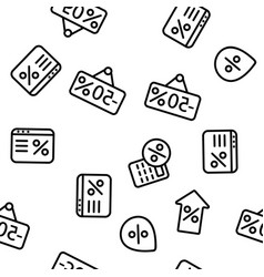 discount seamless pattern vector image