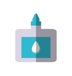 Drops bottle medicine icon shadow vector