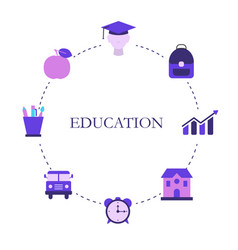 education design concept vector image