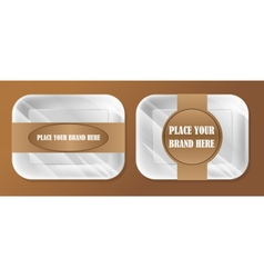 empty white styrofoam plastic food tray vector image