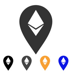 Ethereum marker icon vector