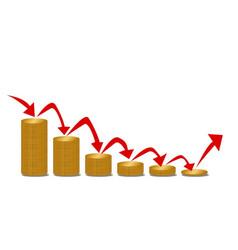 Falling money steps vector