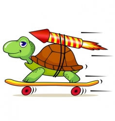 fast turtle vector image vector image