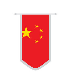 flag of china on a banner vector image