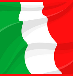 flag of italy italian national symbol vector image