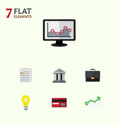 Flat icon incoming set of bubl payment bank and vector