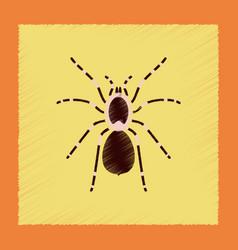 Flat shading style spider tarantula vector