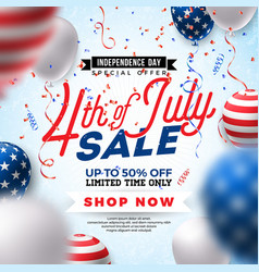 Fourth of july independence day sale banner vector