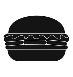 fresh burger icon simple style vector image
