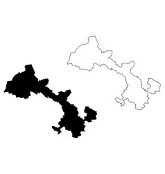 gansu province map vector image