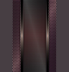 Geometric design with metal rectangular grille vector