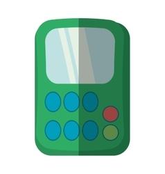 green calculator class supplies school shadow vector image