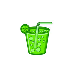 green juice on glass logo design inspiration vector image