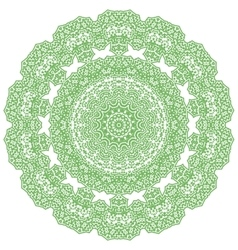 Green mandala isolated vector