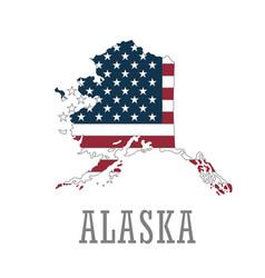 Happy alaska day graphic map vector