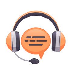 headphones support service online customer vector image