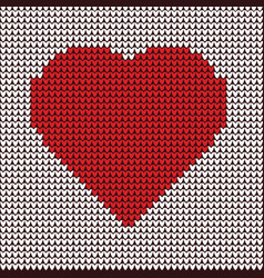 heart embroidery on fabric pattern vector image