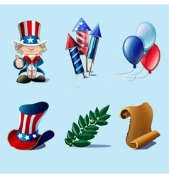 Independence Day design elements collection vector image