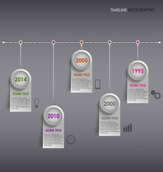 Info graphic time line colored striped template vector