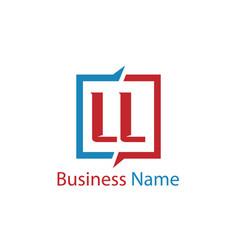 Initial letter ll logo template design vector