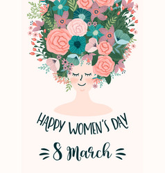 International women s day template with vector