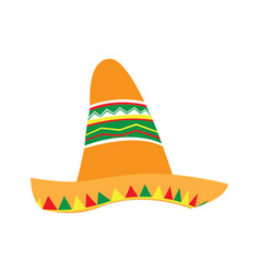 Isolated traditional mexican hat vector