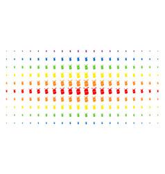 joker spectral halftone effect vector image