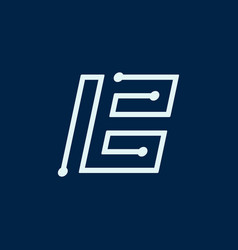 Letter b font maze italic geometric vector