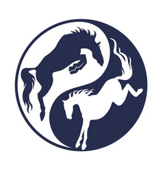 Logo horse racing vector