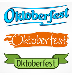 oktoberfest color lettering vector image