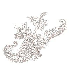 Paisley henna ornament vector